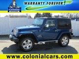 2010 Deep Water Blue Pearl Jeep Wrangler Sahara 4x4 #77635522