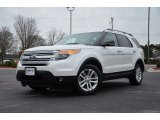 2013 White Platinum Tri-Coat Ford Explorer XLT 4WD #77635351