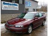 2001 Dark Carmine Red Metallic Chevrolet Impala LS #77635196