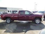2013 Deep Ruby Metallic Chevrolet Silverado 1500 LT Extended Cab 4x4 #77635174