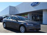 2013 Sterling Gray Metallic Ford Fusion Hybrid SE #77675101