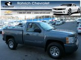 2007 Blue Granite Metallic Chevrolet Silverado 1500 LT Regular Cab 4x4 #77675560