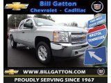 2013 Silver Ice Metallic Chevrolet Silverado 1500 LT Extended Cab 4x4 #77675543