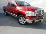 2007 Inferno Red Crystal Pearl Dodge Ram 1500 SLT Quad Cab #77727100