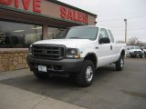 2002 Oxford White Ford F250 Super Duty XL SuperCab 4x4 #77727321