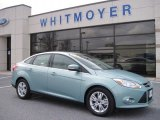 2012 Frosted Glass Metallic Ford Focus SEL Sedan #77762022