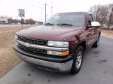 2000 Dark Carmine Red Metallic Chevrolet Silverado 1500 LS Regular Cab #77762208