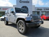 2013 Billet Silver Metallic Jeep Wrangler Unlimited Oscar Mike Freedom Edition 4x4 #77761746