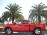 2005 Flame Red Dodge Ram 1500 SLT Quad Cab #745371