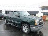 2005 Dark Green Metallic Chevrolet Silverado 1500 LT Crew Cab 4x4 #77819519