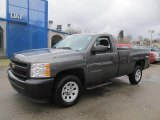 2011 Steel Green Metallic Chevrolet Silverado 1500 Regular Cab #77819362