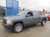 2013 Blue Granite Metallic Chevrolet Silverado 1500 Work Truck Extended Cab 4x4 #77819357