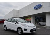 2013 Oxford White Ford Fiesta S Sedan #77819473