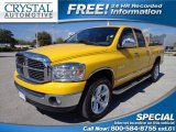 2008 Detonator Yellow Dodge Ram 1500 Big Horn Edition Quad Cab 4x4 #77819885