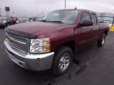 2013 Deep Ruby Metallic Chevrolet Silverado 1500 LS Extended Cab 4x4 #77819743