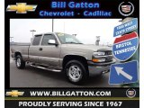 2002 Light Pewter Metallic Chevrolet Silverado 1500 LS Extended Cab 4x4 #77820026