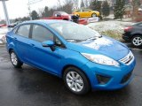 2013 Blue Candy Ford Fiesta SE Sedan #77892147