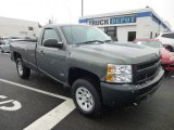 2011 Steel Green Metallic Chevrolet Silverado 1500 Regular Cab 4x4 #77892351