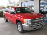 2013 Victory Red Chevrolet Silverado 1500 LT Extended Cab 4x4 #77924717