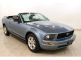 2007 Windveil Blue Metallic Ford Mustang V6 Premium Convertible #77924537