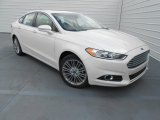2013 White Platinum Metallic Tri-coat Ford Fusion SE 1.6 EcoBoost #77924401