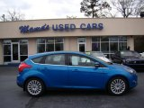 2012 Blue Candy Metallic Ford Focus Titanium 5-Door #77961528