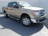 2013 Pale Adobe Metallic Ford F150 XLT SuperCrew 4x4 #77961398