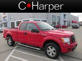 2010 Vermillion Red Ford F150 STX SuperCab 4x4 #77961029