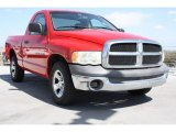 Flame Red Dodge Ram 1500 in 2002