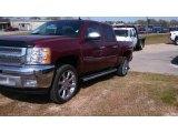 2013 Deep Ruby Metallic Chevrolet Silverado 1500 LT Crew Cab #77961812