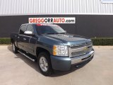 2010 Blue Granite Metallic Chevrolet Silverado 1500 LT Crew Cab #77961592