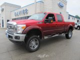 2012 Vermillion Red Ford F250 Super Duty Lariat Crew Cab 4x4 #77961343