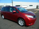 2012 Salsa Red Pearl Toyota Sienna LE #78023733
