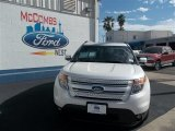 2013 White Platinum Tri-Coat Ford Explorer Limited #78023072