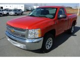 2013 Victory Red Chevrolet Silverado 1500 Work Truck Regular Cab #78023578