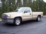 2004 Sandstone Metallic Chevrolet Silverado 1500 Regular Cab #7799461