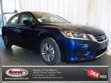 2013 Obsidian Blue Pearl Honda Accord LX Sedan #78022991