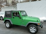2005 Jeep Wrangler Electric Lime Green Pearl
