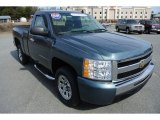 2009 Blue Granite Metallic Chevrolet Silverado 1500 LS Regular Cab #78076642