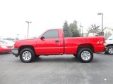 2007 Victory Red Chevrolet Silverado 1500 Classic Work Truck Regular Cab 4x4 #78122363