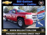 2008 Victory Red Chevrolet Silverado 1500 LS Extended Cab 4x4 #78122362