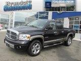 2008 Brilliant Black Crystal Pearl Dodge Ram 1500 Laramie Quad Cab 4x4 #78121660