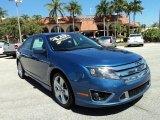 2010 Sport Blue Metallic Ford Fusion Sport #78121875