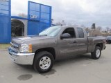 2013 Mocha Steel Metallic Chevrolet Silverado 1500 LT Extended Cab 4x4 #78121854