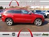2014 Deep Cherry Red Crystal Pearl Jeep Grand Cherokee Overland 4x4 #78181117