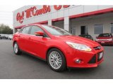 2012 Race Red Ford Focus SEL Sedan #78181203