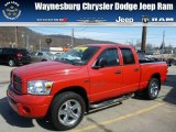 2007 Flame Red Dodge Ram 1500 Sport Quad Cab 4x4 #78203388