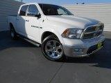 2012 Bright White Dodge Ram 1500 Laramie Crew Cab 4x4 #78214045
