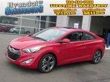 2013 Volcanic Red Hyundai Elantra Coupe SE #78213712