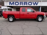 2013 Victory Red Chevrolet Silverado 1500 LT Extended Cab 4x4 #78213881
